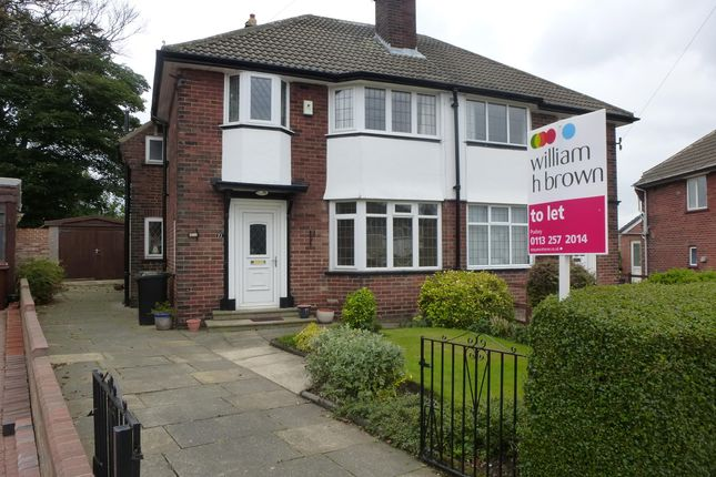 Thumbnail Semi-detached house to rent in Green Hill Drive, Leeds