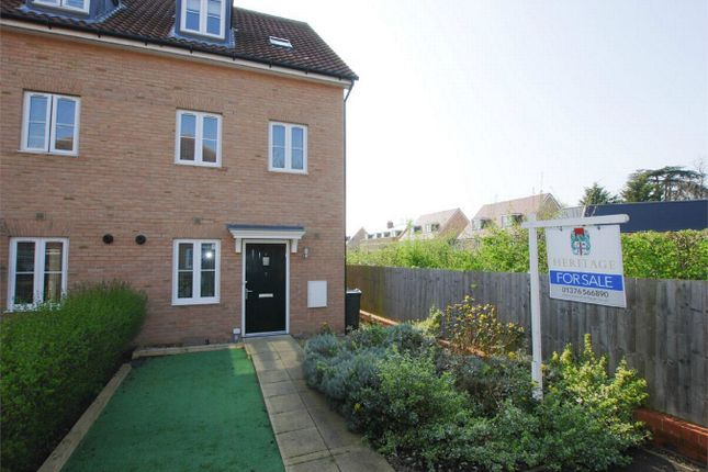 Thumbnail End terrace house for sale in Chaplin Mews, Witham, Essex