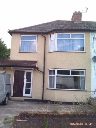 Thumbnail Semi-detached house to rent in Hill Crescent, Harrow