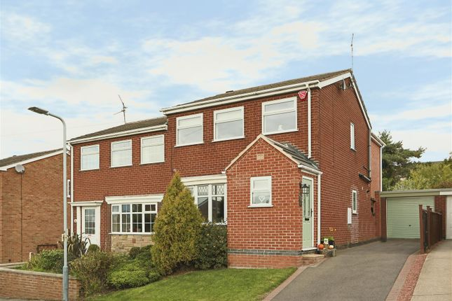 Thumbnail Semi-detached house for sale in Broad Oak Drive, Brinsley, Nottingham