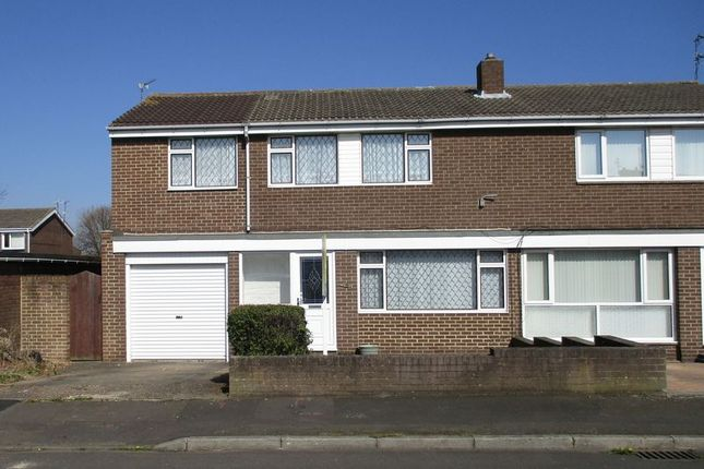Thumbnail Semi-detached house for sale in Holystone Close, Blyth
