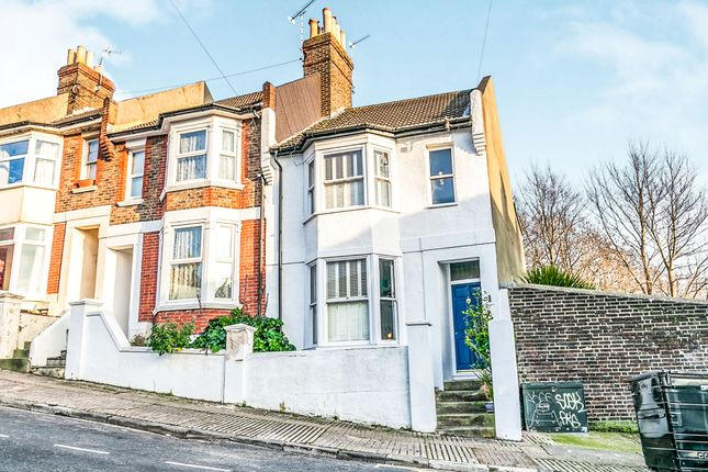 Thumbnail End terrace house for sale in Newmarket Terrace, Brighton