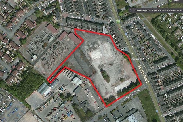 Land to let in Former Westport House Site, Federation Road, Burslem, Stoke-On-Trent, Staffordshire