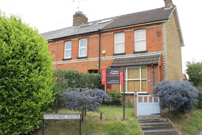 Thumbnail End terrace house to rent in High Street, Horsell, Woking