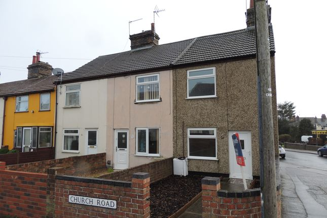 Thumbnail End terrace house to rent in Church Road, Lowestoft