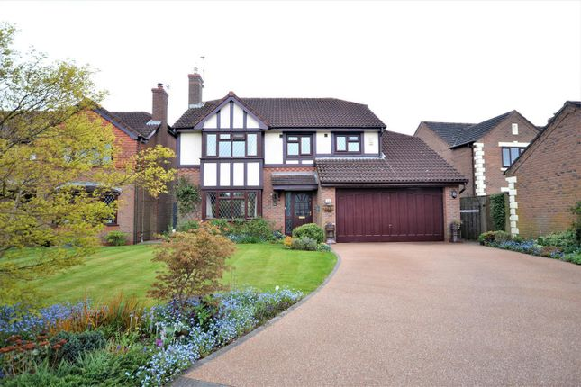 Thumbnail Detached house for sale in Foxhills Close, Appleton, Warrington
