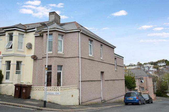 Thumbnail End terrace house for sale in Furzehill Road, Plymouth, Devon