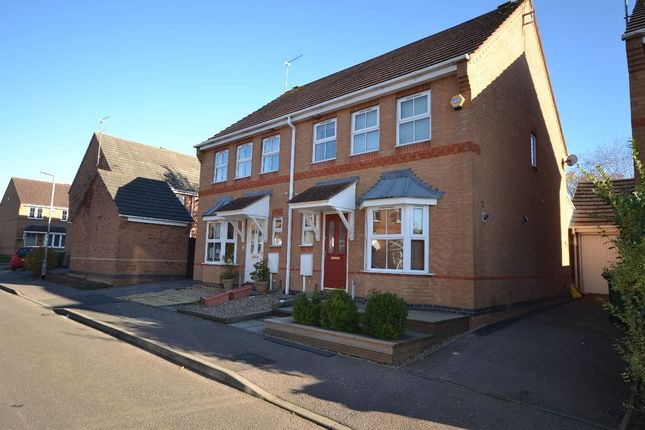 Thumbnail Semi-detached house for sale in Campbell Close, Towcester