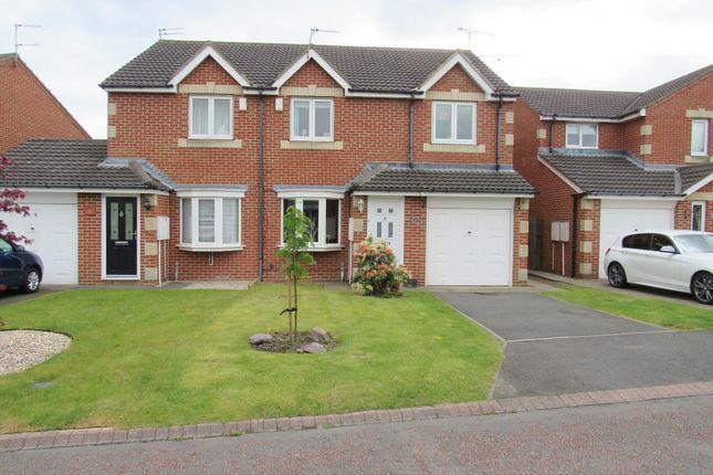 Thumbnail Semi-detached house for sale in Easington Avenue, Cramlington