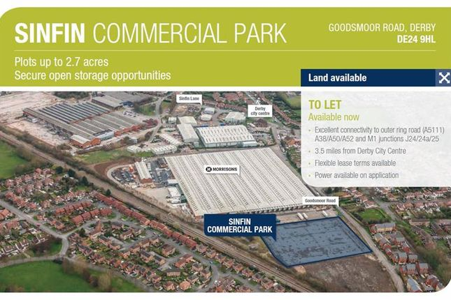 Thumbnail Land to let in Sinfin Commercial Park, Goodsmoor Road, Derby, Derbyshire