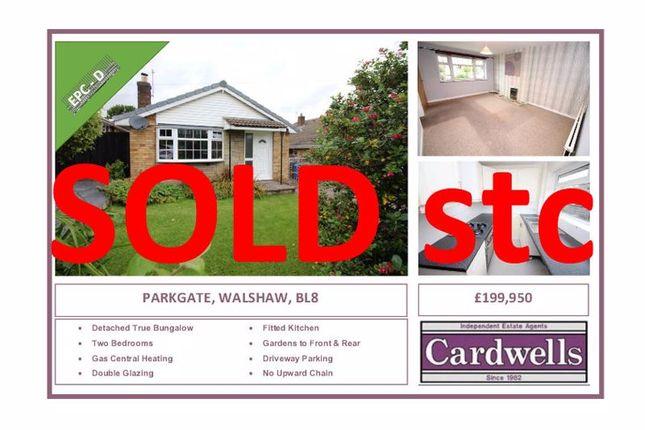 Thumbnail Detached bungalow for sale in Parkgate, Walshaw, Bury