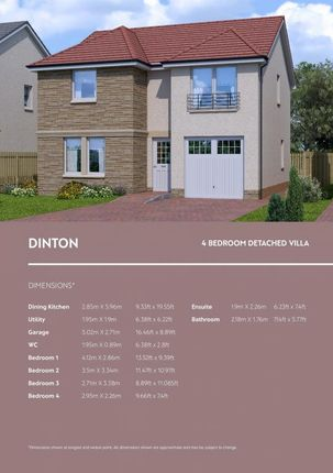 Thumbnail Detached house for sale in Dinton House Type, Ballochney Brae, Plains., Plains
