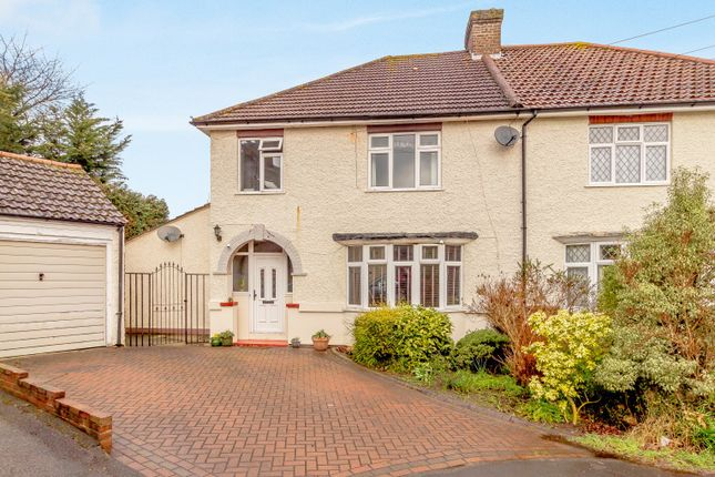 Thumbnail Semi-detached house for sale in Sayes Court, Addlestone