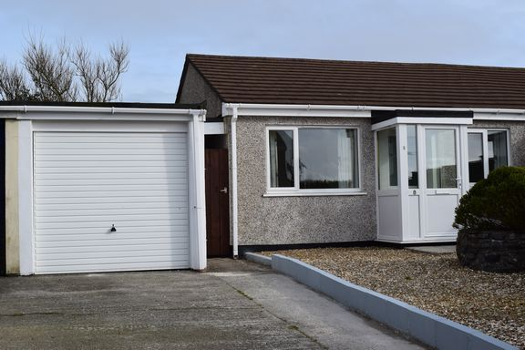 Thumbnail Semi-detached bungalow for sale in Trevarren Avenue, Four Lanes, Redruth