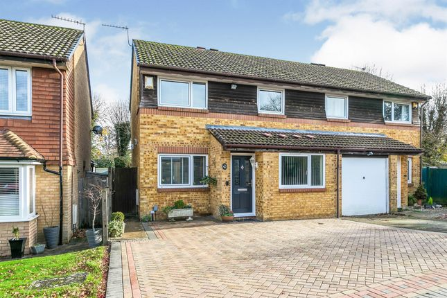 Thumbnail Semi-detached house for sale in Chepstow Close, Worth, Crawley