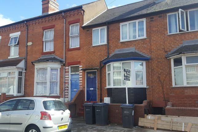 Thumbnail Terraced house to rent in Newton Road, Sparkhill, Birmingham