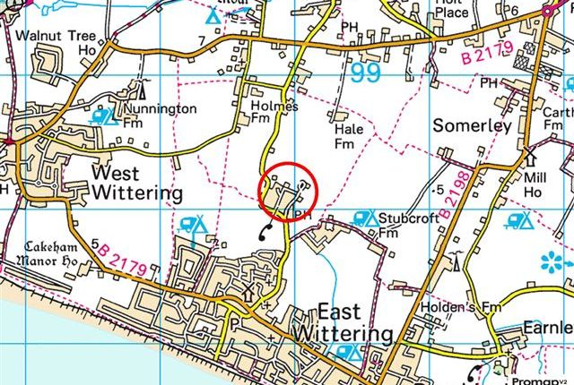 Map 3 of Briar Avenue, West Wittering, Chichester PO20