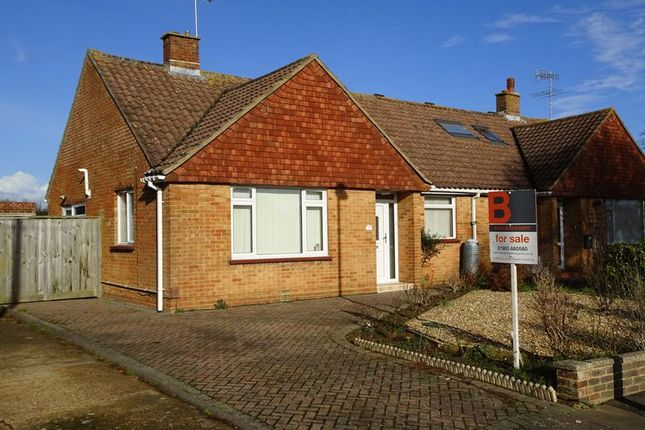 Thumbnail Semi-detached bungalow for sale in Coniston Road, Goring-By-Sea, Worthing