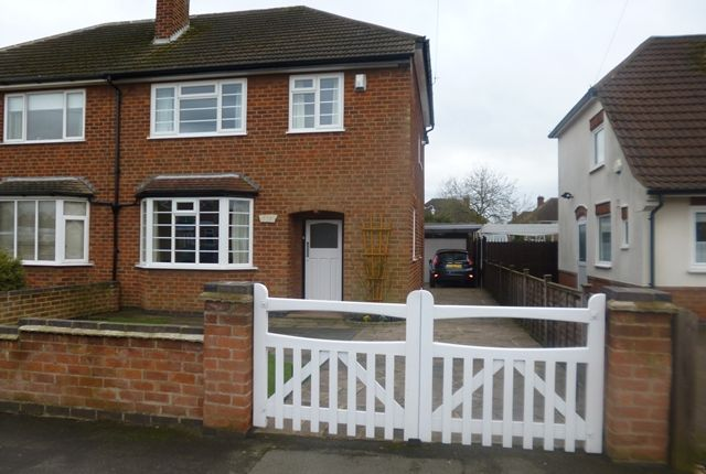 Thumbnail Semi-detached house for sale in Treaty Road, Glenfield, Leicester.