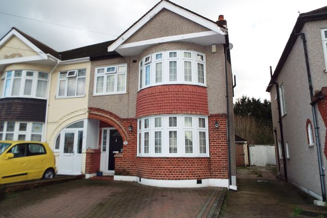 Thumbnail Semi-detached house for sale in Harewood Drive, Clayhall, Ilford