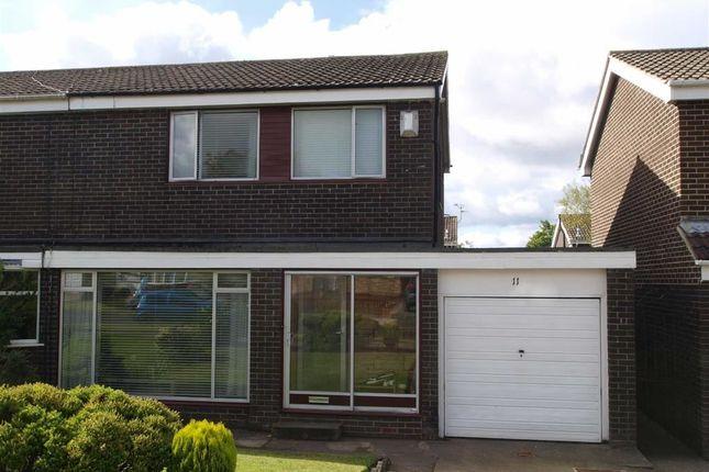 Thumbnail Semi-detached house for sale in Crofthead Drive, Cramlington