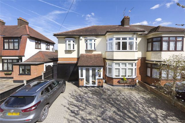 Thumbnail Semi-detached house for sale in Lake Rise, Romford