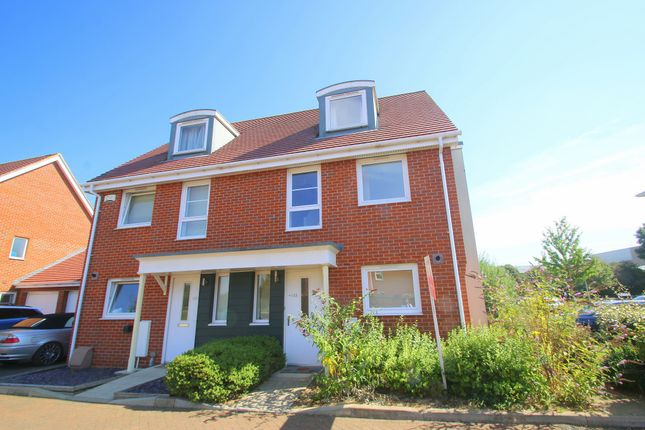 Thumbnail Semi-detached house to rent in Wraysbury Drive, Yiewsley, West Drayton, Middlesex