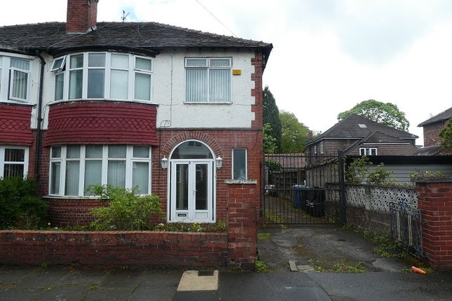 Thumbnail Semi-detached house for sale in Ruskin Road, Old Trafford, Manchester.