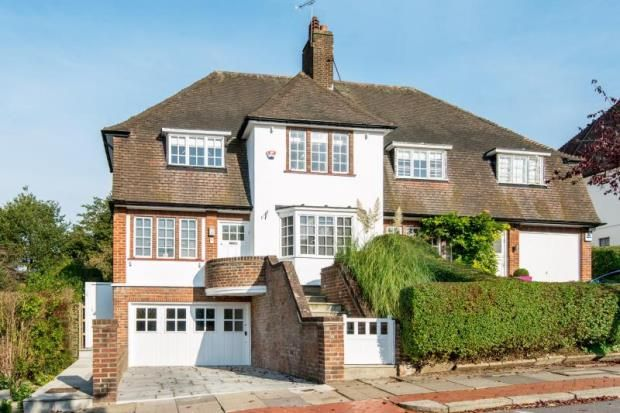 Thumbnail Semi-detached house for sale in Hill Top, Hampstead Garden Suburb, London