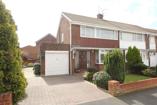 Thumbnail Semi-detached house for sale in Marian Drive, Bill Quay, Gateshead, Tyne And Wear