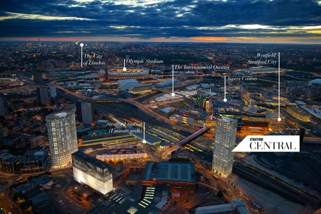 Thumbnail Flat for sale in Stratford Central, Stratford, London