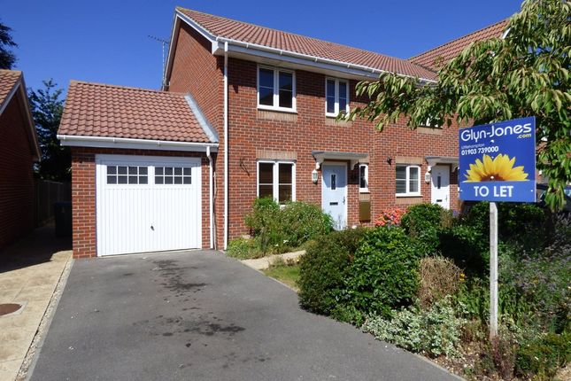 Thumbnail End terrace house to rent in Butts Mead, Wick, Littlehampton