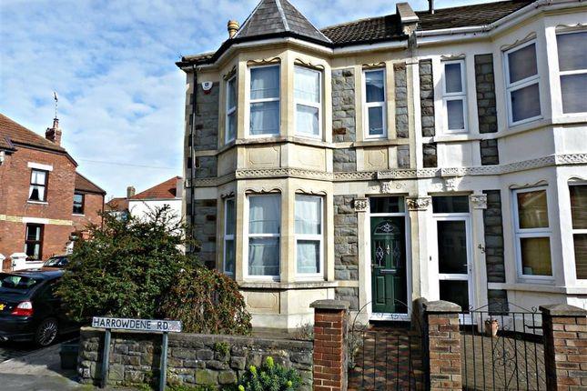 Thumbnail End terrace house for sale in Harrowdene Road, Knowle, Bristol