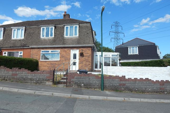 Thumbnail Semi-detached house for sale in South Bank, Beaufort, Ebbw Vale