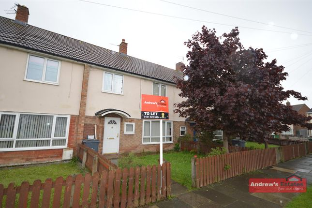 Thumbnail Terraced house to rent in Cook Road, Moreton, Wirral