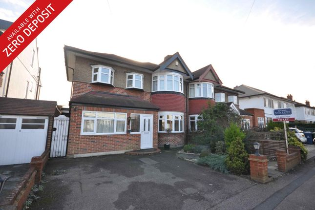 Thumbnail Semi-detached house to rent in Cannonbury Avenue, Pinner, Middlesex