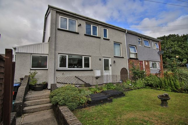 Thumbnail 3 bed semi-detached house for sale in Taff Close, Rassau, Ebbw Vale