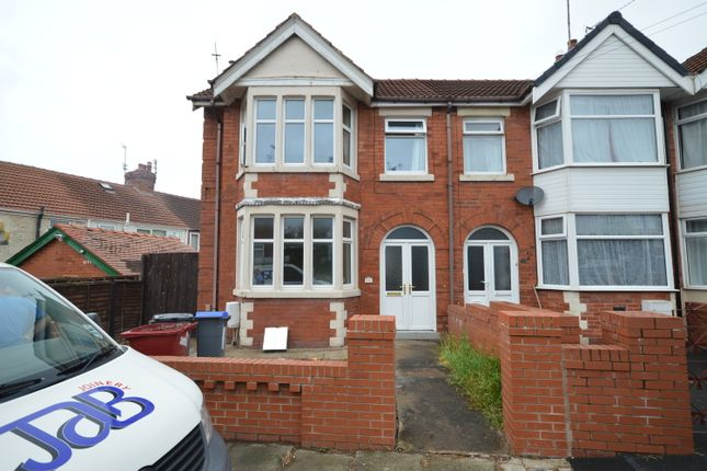 3 bed end terrace house to rent in Bingley Avenue, Blackpool