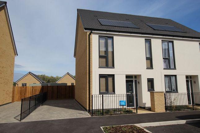 Thumbnail Semi-detached house for sale in Mottershead Avenue, Locking Parklands, Weston-Super-Mare