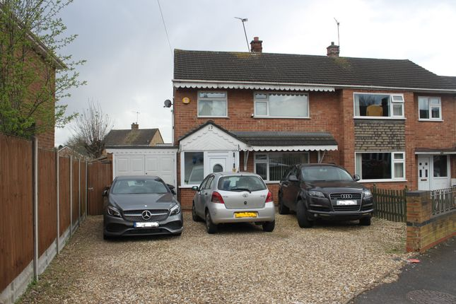 Thumbnail Semi-detached house for sale in Thorndale Road, Thurmaston, Leicester