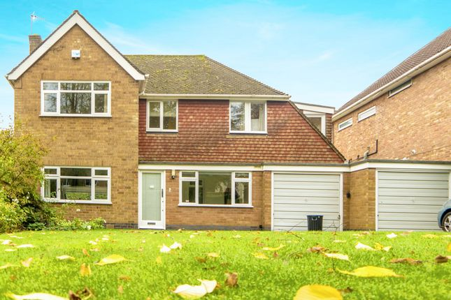 Thumbnail Detached house for sale in The Fairway, Oadby, Leicestershire