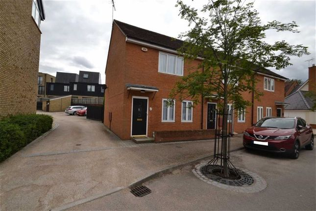 Thumbnail End terrace house for sale in Alba Road, New Hall, Harlow, Essex