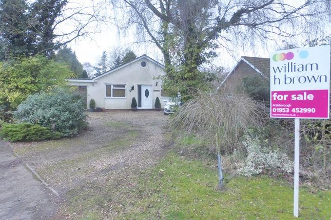 Thumbnail Detached bungalow for sale in Haugh Road, Banham, Norwich