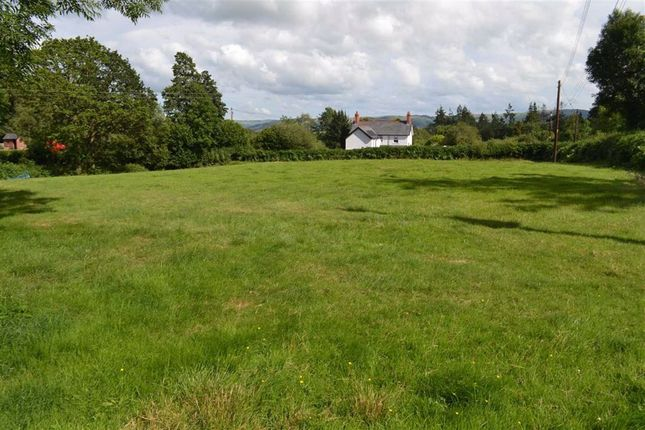Thumbnail Land for sale in Building Plot With Paddock, Pontdolgoch, Caersws, Powys