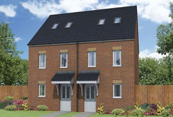 "Thumbnail Town house for sale in ""The Mosley"" at Pool Lane, Bromborough Pool, Wirral"