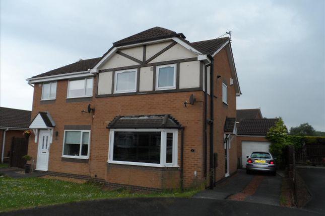Thumbnail Semi-detached house to rent in Malvern Close, Ashington