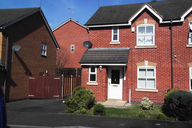 Thumbnail Semi-detached house to rent in Honeychurch Close, Redditch