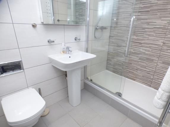 Shower Room of Bay View Apartments, Beach Road, Benllech, Anglesey LL74