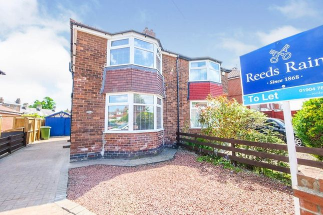 Thumbnail Semi-detached house to rent in Wilton Rise, York