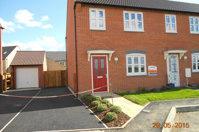 Thumbnail End terrace house to rent in Goodwood Road, Barleythorpe/Oakham